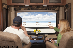 Couple in RV at Beach