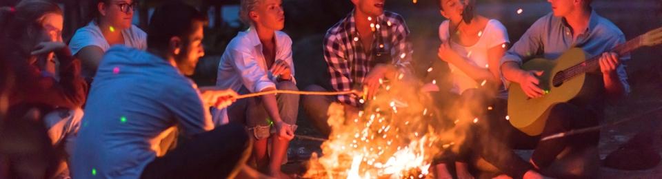 Millennials Around Campfire