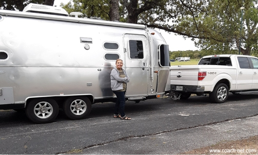 Terry's Wife Next To The Airstream